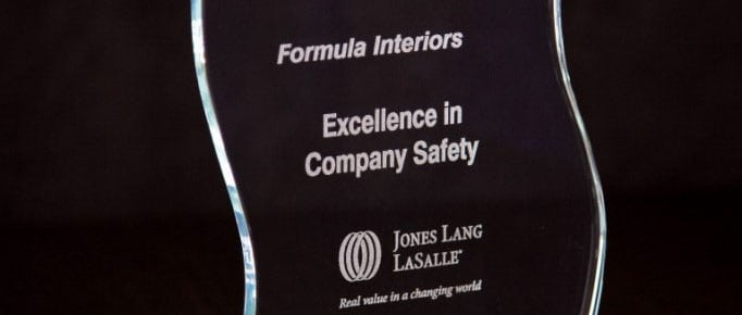 Winner of the 2015 JLL Dwayne Robertson Safety Award