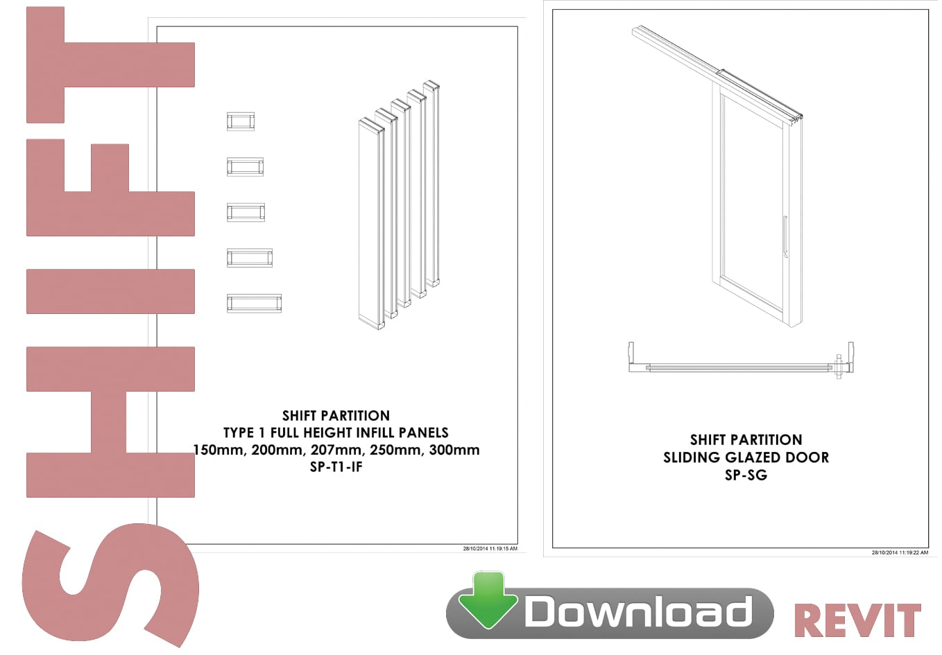 Shift Partition System Revit download - Formula Interiors