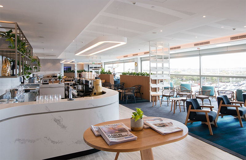 Formula delivers the new Qantas International Lounge Extension at Brisbane Airport.