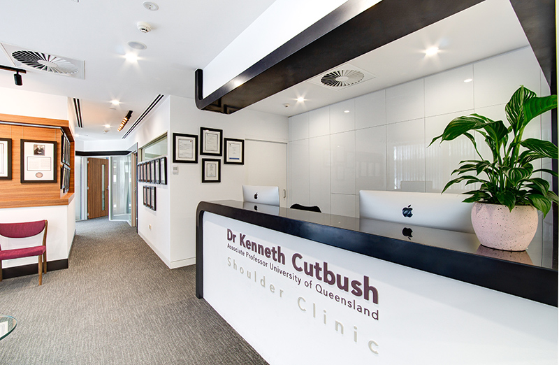 Brisbane Private Hospital-Consultant Suites- Dr Curtbush Shoulder Clinic- Fitout completed by Formula Interiors